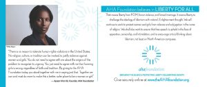 The AHA Foundation Holiday Card 2018